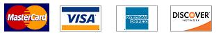 MasterCard, Visa, American Express, Discover