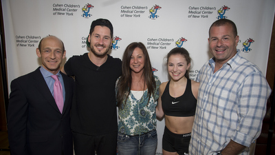 Young patient Gianna Schupler with  Val Chmerkovskiy