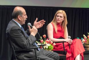 Souhel Najjar, MD, chairman of Neurology, Lenox Hill Hospital and Susannah Cahalan, panelist author, Brain on Fire
