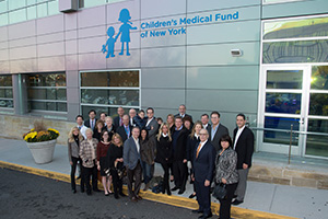 Children's Medical Fund of New York donors celebrate the partnership with Cohen Children's Medical Center.