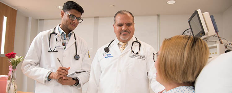 Northwell doctors with patient