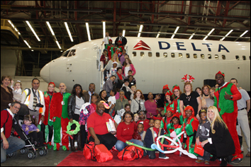 CCMC Holiday In The Hangar with Delta Air Lines