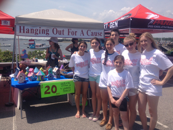 Participants of Hanging Out for a Cause pictured at Port Washington Harborfest.